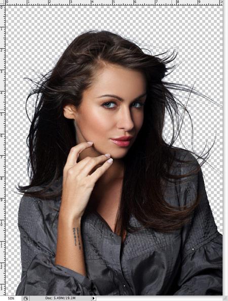 Как вырезать волосы в фотошопе 8