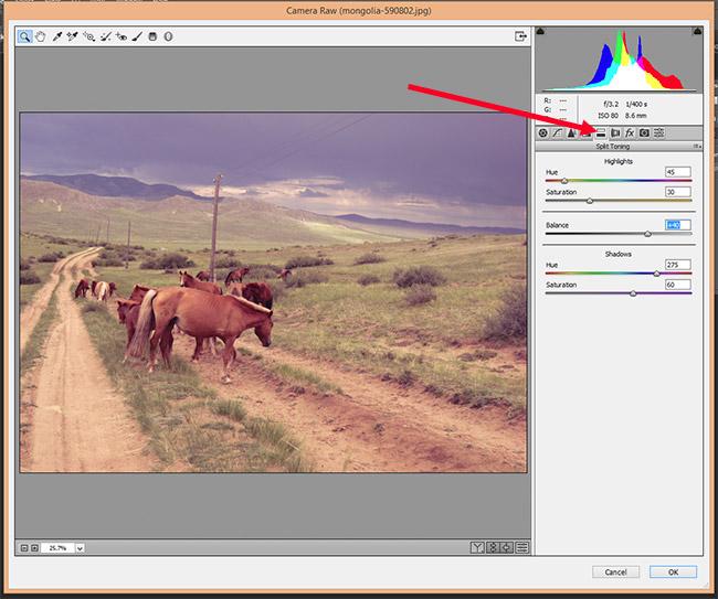 Как использовать Camera Raw фильтры в фотошопе 2