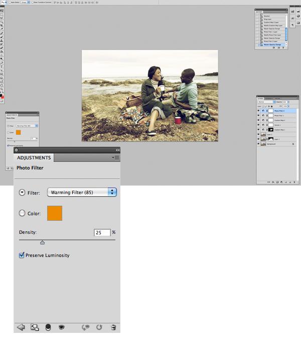 Применение цветового эффекта к фотографии 10