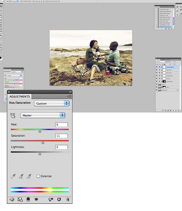 Применение цветового эффекта к фотографии 11