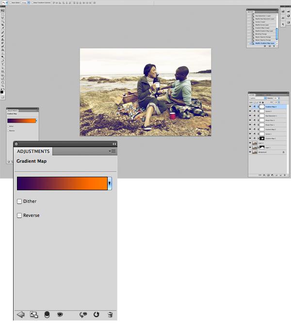 Применение цветового эффекта к фотографии 13