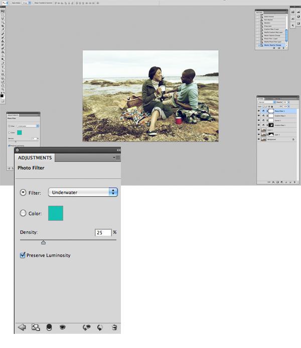 Применение цветового эффекта к фотографии 9
