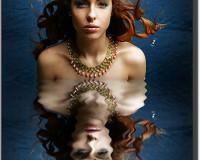 Эффект отражения в воде  в фотошопе 2