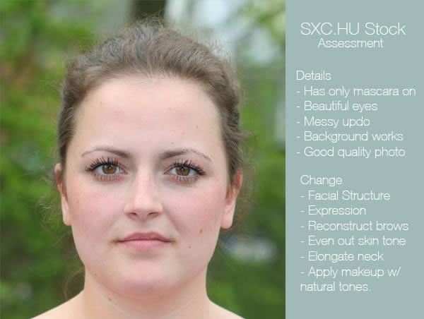 реалистичный макияж фотошоп 1