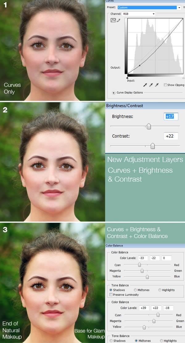 реалистичный макияж фотошоп 11