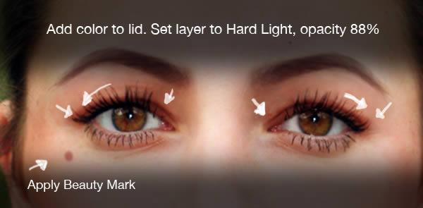 реалистичный макияж фотошоп 13