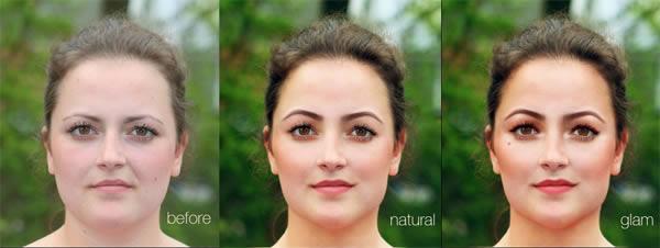 реалистичный макияж фотошоп 16