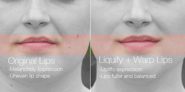 реалистичный макияж фотошоп 4