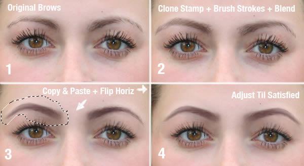 реалистичный макияж фотошоп 6