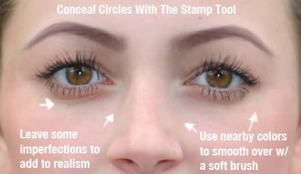 реалистичный макияж фотошоп 7
