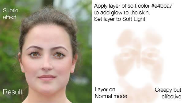 изменить макияж в фотошопе